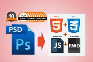 Portfolio for PSD to HTML5, CSS3/bootstrap