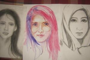 Portfolio for painting portrait water color
