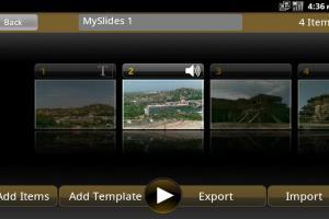 Multimedia slide share app