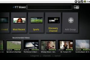 Youtube aplication category view