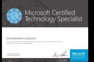 Portfolio for Microsoft Certified .Net Developer