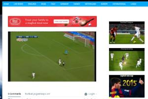 Portfolio for Wordpress website Football Live videos