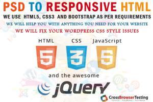 Portfolio for PSD To Responsive HTML5 Css3