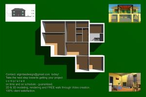 Portfolio for 2D Plans Drawing  Professional 3D Mod.