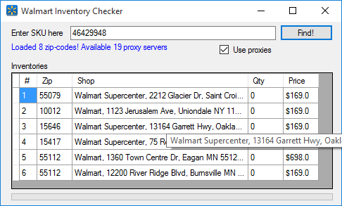 related services - Inventory Checker