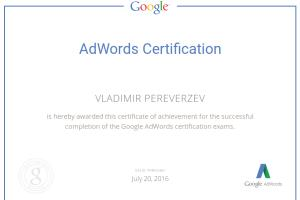 Portfolio for Google Certified PPC Campaign Manager