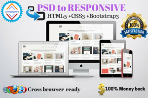 Portfolio for I can convert PSD To HTML5 CSS3