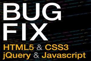 Portfolio for HTML/CSS/JQuery BUG FIXES