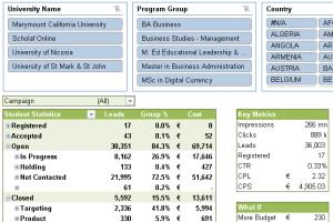Portfolio for Excel Reporting and Analytics Guru!!