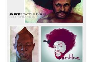 Portfolio for Graphic designer, fashion illustrator