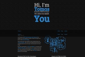 Portfolio for PHP Web Developer Tomas.cc