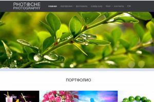 Portfolio for site on wordpress photoche.com.ua