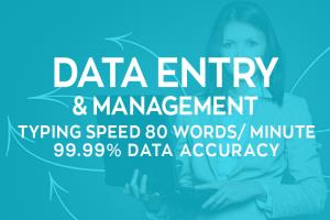 Portfolio for Data Entry, Data Management