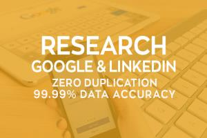 Portfolio for Research Google and LinkedIn for Leads