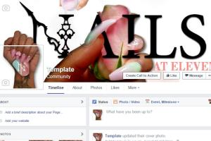 Portfolio for Design three social media pages