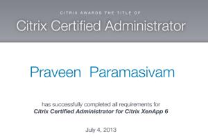 Portfolio for Citrix Expert having more than 10 Years