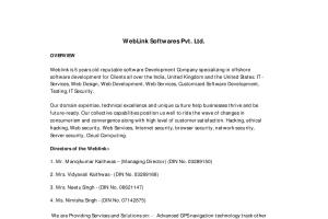 Portfolio for Weblink is 5 years Software Comapny