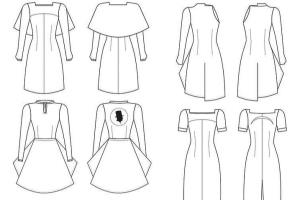 Portfolio for Fashion Technical Flat Vector Drawings