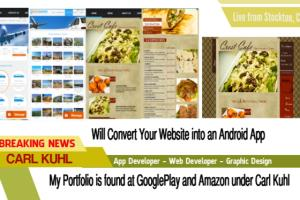 Portfolio for Your Website into an Android App
