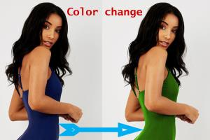 Replace color