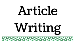 Portfolio for Article and Blog Writing