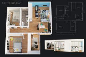 Portfolio for 3D floorplans & 2D colored floorplans