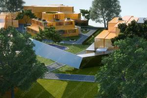 \u0027Maya\u0027 Container office park (landscape design)