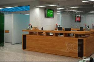 Interior of bank