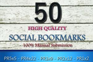 Portfolio for I will Give You 50 Social bookmarking