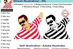 Portfolio for Illustration-Line Art-Multimedia-ALL IN