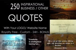 Portfolio for 200 Images with your logo or brand name