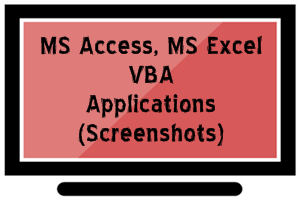Portfolio for MS Access, MS Excel, VBA Databases