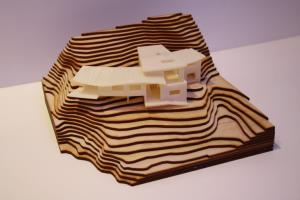 Architectural Model with Chocolate Landscape