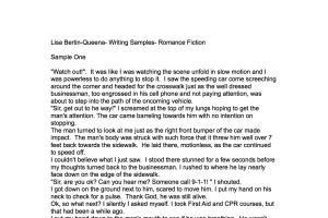 Portfolio for Romance Writer