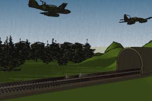 Battle scene, 3d model