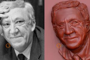 Portfolio for 3D models of portrait bas-reliefs