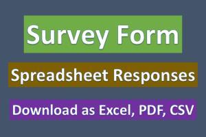 Portfolio for Survey Form with Google Forms.