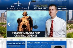 Portfolio for Attorney website design