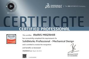 Portfolio for Certified Solidworks Professional
