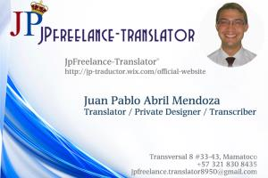 Portfolio for Translator Freelance English to Spanish