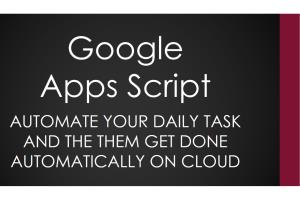 Portfolio for TASK Automation With Google Apps Script