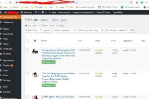 Portfolio for Product Listing to E-commerce Site.