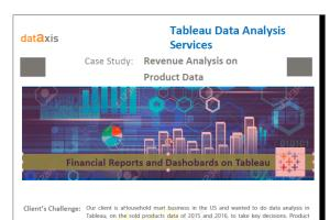 Portfolio for Tableau Dashboard Services