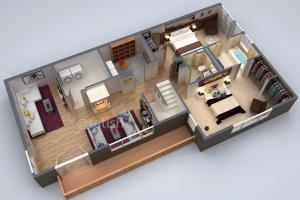 Portfolio for 3D Floor plan Rendering