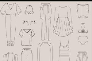 Portfolio for Technical drawings of garments