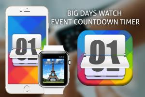 iPhone and apple watch - Big Days Watch event countdown