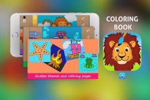 Coloring book iOS Mobile App