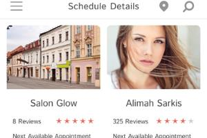 Portfolio for Barber and beauty app