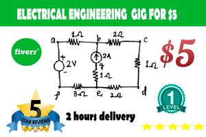 Portfolio for Electrical Power Engineer, Circuit Analy