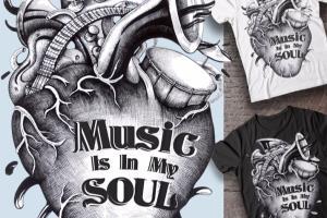 Portfolio for T-Shirt Design and Mock Up